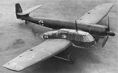 Blohm Und Voss BV 141, 1938 Voght designed the original  Bv 141 to meet the 1937 RLM requirement for a tactical aircraft having a crew of three with excellent all round vision able to fly army co-operation ,tac-recce smokescreen,,low attack and bomber missions he rightly judged that the best layout to meet the stated need was a single -engined aircraft with the crew and mission equipment in an all glazed nacelle mounted beside the engine/tailboom .and so the Bv 141 was born