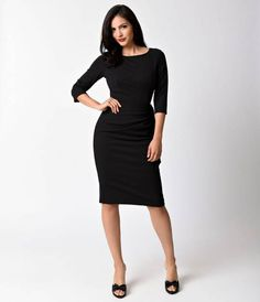 Marnie is a true friend in your time of need, dolls! From The Pretty Dress Company is the most darling little black dress. Marnie is crafted in a ravishing black french crepe and styled in divine wiggle style. With an attractive high neckline and elegant