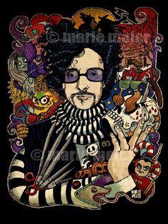 Tim Burton art....love this!