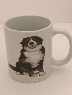 Bernese Mountain Dog Handmade Mug by NGBCraftsandSupplies on Etsy Bernese Mountain, Mountain Dogs, Mugs, Pictures, Handmade, Stuff To Buy, Etsy, Photos, Hand Made