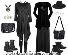 Double the mystique *mostly plus sizes* Left Buy Here >>> Moon Choker $14 / Rings $18 / Bag $30 / Boots $34 / Harness $12 / Top $12 / Jeans $35 Right Buy Here >>> Crescent Necklace $22 / Top $19 / Skirt $15 / Hat $13 / Ring1$10 / Ring2 $5 / Bag $29 /...