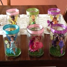 Fairy Theme Mason Jars for my daughter Makayla's 1st Birthday!