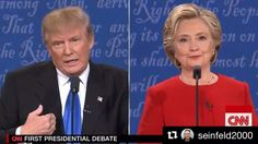"This was my favorite part of the debate last night. Looking at us like ""You know he cray."""