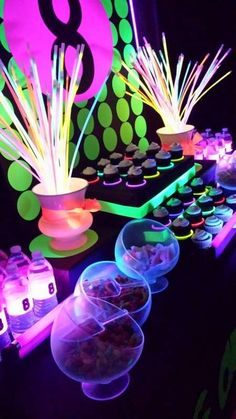 Neon / Glow in the Dark Birthday Party Ideas