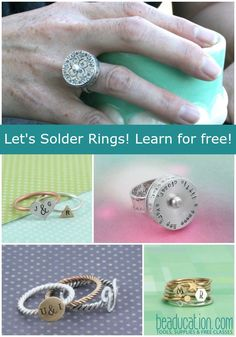 Learn how to solder jewelry! We offer many free soldering video tutorials to help you get started in soldering jewelry. Customize and create some unique pieces on your own!