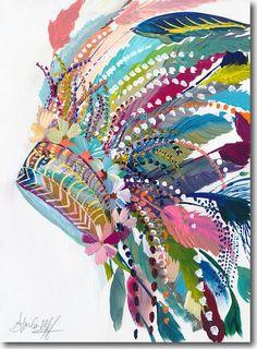 Desert Series IV by Starla Halfmann Native Art, Native American Art, Painting Inspiration, Art Inspo, Journal Inspiration, Feather Art, Feather Headdress, Art Abstrait, Pics Art