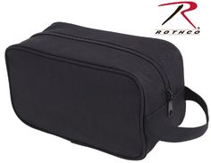 """Rothco Black Polyester Travel Kit - 10"""" Single Compartment Compact Tote Bag 2126"""