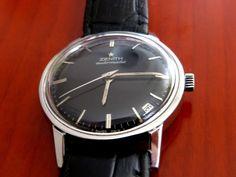 Zenith Automatic Edelst. schweizer Herrenuhr Kal. 2542PC, Black dial,wie neu-NOS | eBay