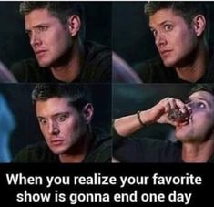 It's too soon -she said after watching the same show for 15 years- Supernatural Pictures, Supernatural Memes, Sam Winchester, Castiel, Funny Cute, Hilarious, Funny Jokes, Smallville, Humor