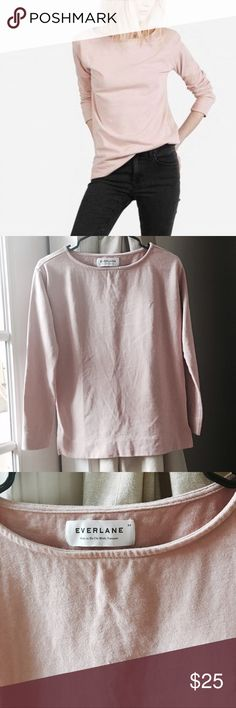 """Everlane Tee TTS XS 100% Cotton. No flaw no stains, no rips. Armpit to armpit is 16.5 sleeves length 19 23"""" Long. Heavy and thick cotton material. Blush color Everlane Tops Tees - Long Sleeve"""