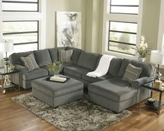Gray Walls Brown Furniture Living Room Ideas In 2018