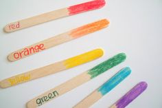 make, do & friend: Rainbow Colour Matching Sticks