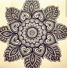 Henna Elephant Sticker