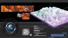 Create a futuristic 3D terrain scanner