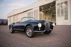 This 1955 Lancia Aurelia B24S Spider America by Pinin Farina has an estimated price: $900,000 to $1,100,000