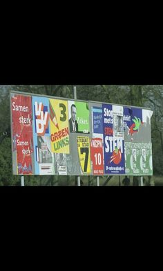 Partijen gebruiken o.a. posters om kiezers te bereiken - Mark
