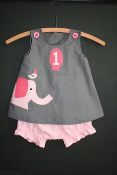 Ellie and Friend Birthday Circus Dress and by PamiesCraftyAttic, $28.00