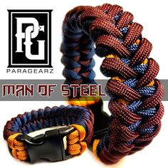 Man of Steel themed paracord bracelet. Available @ www.paragearz.com