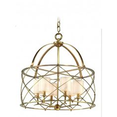 Corbett Lighting Argyle 6 Light Chandelier in Aged Brass  #homedecor #design #interiordesign