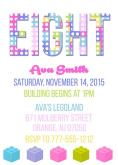 LEGO Friends Birthday Invitation By ConfettiChicCards On Etsy Girls Lego Party