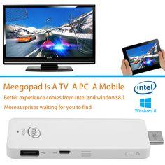 MeeGoPad T01 Windows 8.1 TV Stick (White) #TVstick #windowstv #smarttv #bitcoin