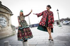 Street Style, Paris: 21 shots of Chanel swag, motorcycle garb and laser cuts outside fashion week - Anna Dello Russo and Giovanna Battaglia