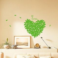 Still Life The Leaves of Love Decoration Wall Stickers – EUR € 16.32