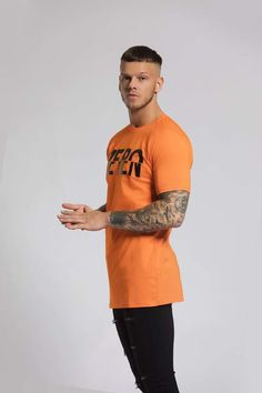 Zero Seven Orange Large Logo T-Shirt