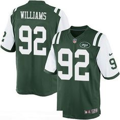 $22 New York Jets #92 Leonard Williams Green Team Color Men's Stitched NFL Nike Game Jersey