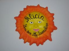 Our personalized ceramic sunshine door plaque is the ideal gift for an occasions and for everyone in the family. ideal for birthday, wedding, just a simple something to give to someone special and make the day brighter and happier. you can ask for your own message or just a name. Handwritten by myself.  dimensions: diameter: 16cm (6 inches) height: 2 cm (0.8 inches)  Guaranteed to be sent shortly after ordering.