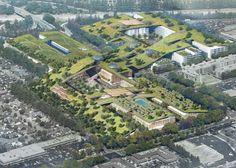 Empreendimento na Califórnia terá o maior telhado verde do mundo, com 12 hectares | aU - Arquitetura e Urbanismo
