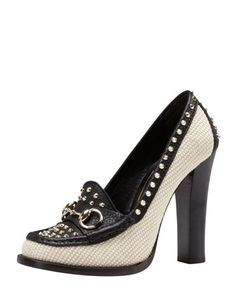 High Heel Loafers, Loafer Shoes, High Heels, Unique Shoes, Cute Shoes, Me Too Shoes, Gucci Horsebit Loafers, Shoe Show, Beautiful Shoes