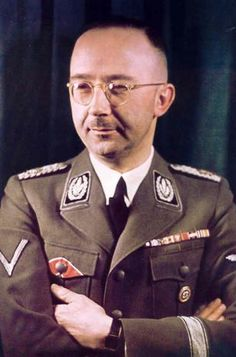 Heinrich Himmler, head of the Gestapo and chief architect of the Holocaust