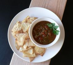 Restaurant-Style Salsa w/ homemade chips - Bless This Mess