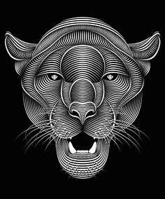Panther on Behance by Patrick Seymour Patrick Seymour, Norman Rockwell, Art And Illustration, Art Illustrations, Panther, Arte Bob Marley, Doodles Zentangles, 3d Laser, Illusion Art