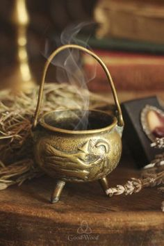 Gorgeous cauldron with a witch and moon motif! Witch Cottage, Witch House, Wiccan, Witchcraft, Season Of The Witch, Witch Aesthetic, Mystique, Practical Magic, Kitchen Witch