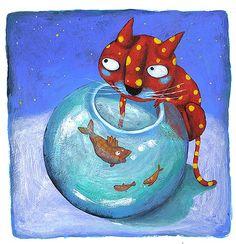 Pinzellades al món: gats  site has lots of cats