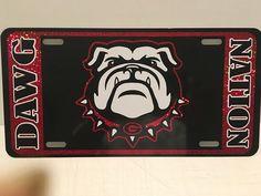 Georgia Bulldogs College Football - Black Metal License Plate - Car Truck SUV