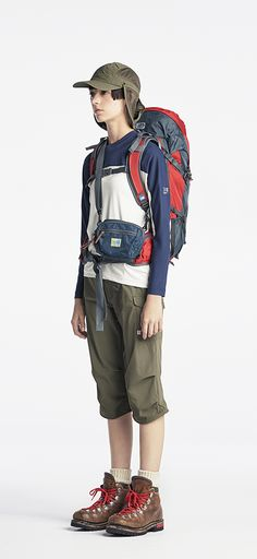 You will require dress that may non-restrictive and shall permit you too hang around liberally. Hiking Fashion, Sport Fashion, Womens Fashion, Hiking Dress, Climbing Outfits, Mountain Style, Engineered Garments, Outdoor Fashion, Casual Skirt Outfits