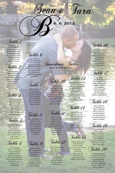 Seating Poster Wedding Reception Table by CharmingPaperShop, $55.00