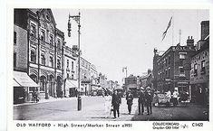 Hertfordshire Postcard - Old Watford - High Street / Market Street 2472 University Of Washington, Watford, Street View, Marketing, Places, Newspaper, Collections, War, Google Search