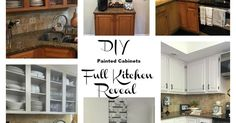 I decided to take the plunge and paint my oak kitchen cabinets.  Today I am giving you step by step directions on how I tackled the job and pictures of the end…