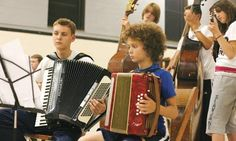 Young musicians at a