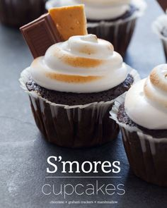 S'more Cupcakes #baking
