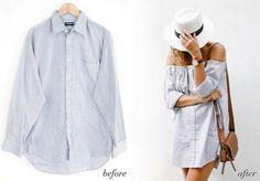 10 Maneras fabulosas de reciclar una camisa de hombre