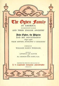 The Ogden family in America, Elizabethtown branch