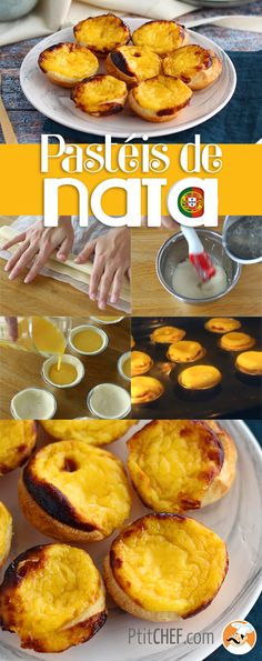 Pasteis de nata - LA gourmandise portugaise par excellence ! // #ptitchef #recette #cuisine #faitmaison #idée #repas #pasteis #pastel #pasteisdenata #nata #gourmandise #dessert #gouter Custard Desserts, Portuguese Recipes, Portuguese Food, Cupcake, One Pot Pasta, Cordon Bleu, French Food, Belem, Biscuits