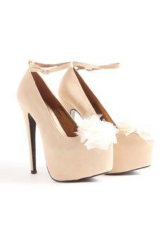 Cimone Platform Heels With Flower