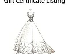dress sketch of YOUR special dress a perfect door dresssketch