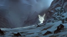 Snowy passage by Miles-Johnston.deviantart.com on @DeviantArt